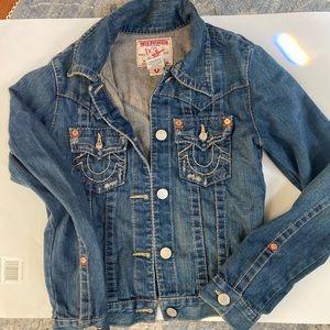 """True religion """"jimmy"""" denim jacket size XS"""